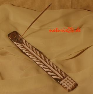 Naturix24 Räucherstäbchenhalter aus Holz weiß gewachst 28 cm