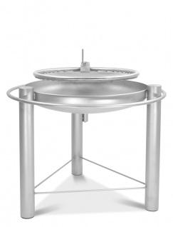 LIBATHERM Schwenkgrill, 0 Euro Versandkosten, komplett aus Edelstahl V2A, Feuerschale 70 cm Durchm., Edelstahl-Grillrost 60 cm Durchm.