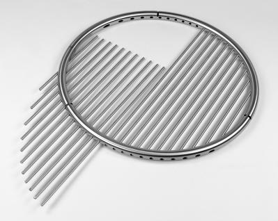 LIBATHERM Schwenkgrill, 0 Euro Versandkosten, komplett Edelstahl V2A , Grillrost mit einzeln entnehmbaren 8 mm Stäbe und Beleuchtung - Vorschau 3