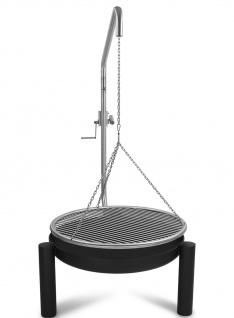 LIBATHERM Schwenkgrill, 0 Euro Versandkosten, Feuerschale 70 cm Durchm, Edelstahl Grillrost 70 cm Durchm., mit Beleuchtung