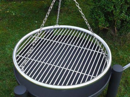 LIBATHERM Schwenkgrill, 0 Euro Versandkosten, 60 cm Durchm., Grillrost 60 cm Durchm., 8 mm Stabstärke, mit Beleuchtung - Vorschau 5