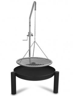 LIBATHERM Schwenkgrill, 0 Euro Versandkosten, Feuerschale 70 cm Durchm., Edelstahl - Grillrost 60 cm Durchm, Stabstärke 8 mml