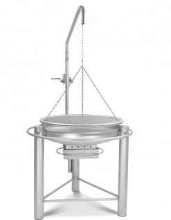 LIBATHERM Schwenkgrill, 0 Euro Versandkosten, kompl. Edelstahl V2A, Feuerschale 60 cm Durchm., Grillrost 60 cm Durchm., mit einzeln entnehmbaren 8 mm Stäben und Beleuchtung