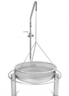 Edelstahl Schwenkgrill 0 Euro Versandkosten, kompl. Edelstahl V2A, Grillrost einzeln entnehmbare Stäbe und Beleuchtung