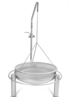LIBATHERM Schwenkgrill, 0 Euro Versandkosten, komplett Edelstahl V2A , Grillrost mit einzeln entnehmbaren 8 mm Stäbe und Beleuchtung