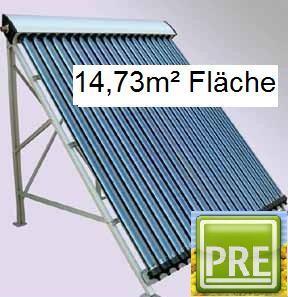 NEU Solaranlage 14, 73m² Röhrenkollektor Flachdach