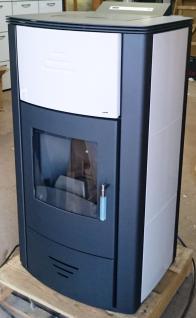 Vittoria PBS Pelletofen 7 - 18 kW (wasserführend) mit Kachelset in weiss z.B. für Pufferspeicher. FÖRDERFÄHIG!