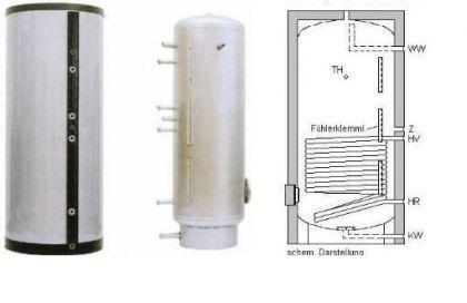 NEU Edelstahl Solarspeicher 500 L 1WT Solarthermie - Vorschau 2