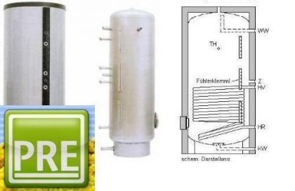 NEU Edelstahl Solarspeicher 150 L 1 WT Heizung