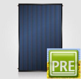 NEU Flachkollektor 2, 1m² für Solaranlage Puffer