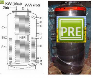 Neuer Kombispeicher 800 Liter mit 2 Wärmetauscher