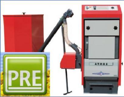 NEU Pelletkessel 20 kW Brenner Schnecke Behälter