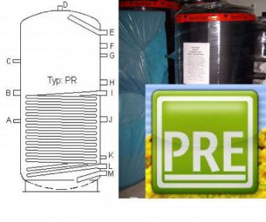 NEU Pufferspeicher 500 Liter mit 1 Wt für Solar