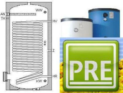 NEU Wärmepumpen Speicher 200 L 1 WT Heizung Solar