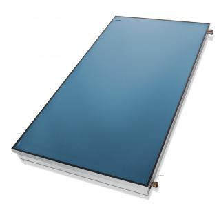 1A TOP Flachkollektor 2, 34m² Kollektor mit Flachdach Set für Solarthermie Solaranlage Warmwasser Spa prehalle