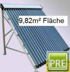 NEU Solaranlage 9, 8m² Röhrenkollektor Flachdach