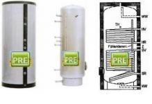 Edelstahl Solarspeicher 200 Liter 2 Wärmetauscher