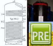 Pufferspeicher 500 L 2 WT Heizung Solar Kamin Ofen