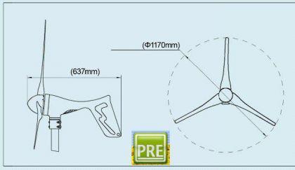 NEU Windenergie Windgenerator 400 Watt 12 Volt - Vorschau 4