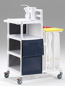 MRSA Stationswagen Pflegewagen Wäschesammler Hygienezubehör RCN - Vorschau 2