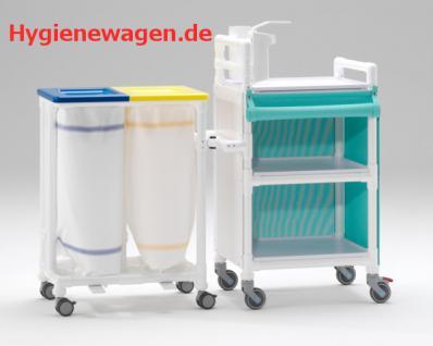 MRSA Stationswagen zweifach Wäschesammler Hygieneausstattung RCN - Vorschau 1