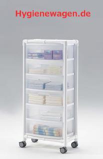Stationswagen Pflegewagen mit Abfalleimer platzsparend Hygiene RCN; als MRT Produkt auch im Shop - Vorschau 4