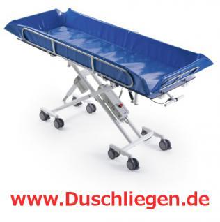 XXL Duschwagen 250 kg kippbar ERSCHÜTTERUNGSARM elektrisch höhenverstellbare Duschliege - Vorschau 2
