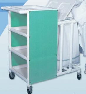 Rostfreie Wäschewagen Wäschesammler Pflege Hotels Bäder