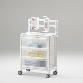 Stationswagen Pflegewagen platzsparend Hygiene; als MRT Produkt auch im Shop - Vorschau 2
