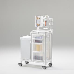 Stationswagen Pflegewagen mit Spritzenschütte Hygiene RCN; als MRT Produkt auch im Shop - Vorschau 4