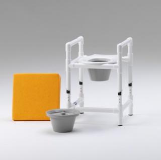 Toilettensitzerhöhung höhenverstellbar Nachtstuhl 150 kg - Vorschau 2