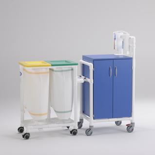Stationswagen Pflegewagen Wäschesammler Hygienezubehör RCN - Vorschau 3