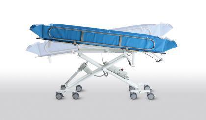 Hydraul. Kinderduschwagen 174 cm kippbar erschütterungsarm Duschwagen Duschliege - Vorschau 2