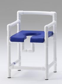 Badhocker mit Rollen 150 kg Kippschutz grosse Sitzfläche gepolstert - Vorschau 5