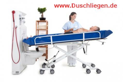 Hydraul. Duschwagen kippbar ERSCHÜTTERUNGSARM höhenverstellbare Duschliege - Vorschau 3