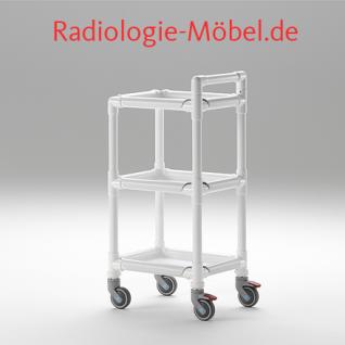 MRT Stationswagen Pflegewagen mit Waschschüssel Radiologie taugliche Möbel - Vorschau 2
