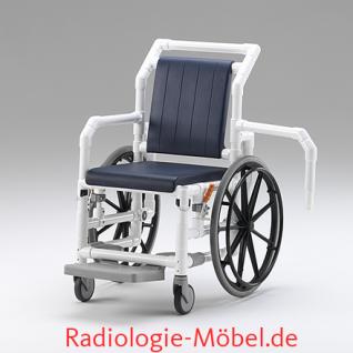 MRT Rollstuhl, Radiologie, Selbstfahrer, Duschrollstuhl, Profi-Stuhl - Vorschau 3