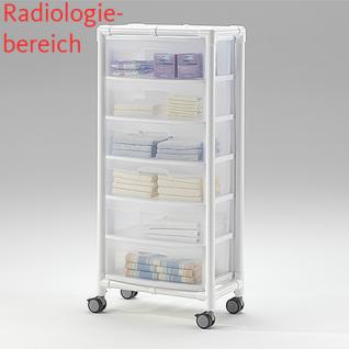 MRT Stationswagen mit Abfalleimer Radiologie platzsparend Hygiene RCN - Vorschau 4