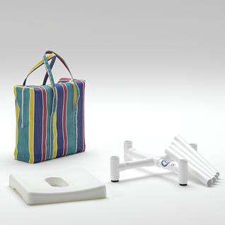 Duschhocker zerlegbar Reisehocker inkl. Tasche und Polster - Vorschau 3