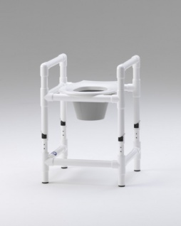 5 Arbeitstage versandfertig: Toilettensitzerhöhung höhenverstellbar Nachtstuhl 150 kg
