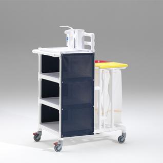MRSA Stationswagen Pflegewagen Wäschesammler Hygienezubehör RCN - Vorschau 4