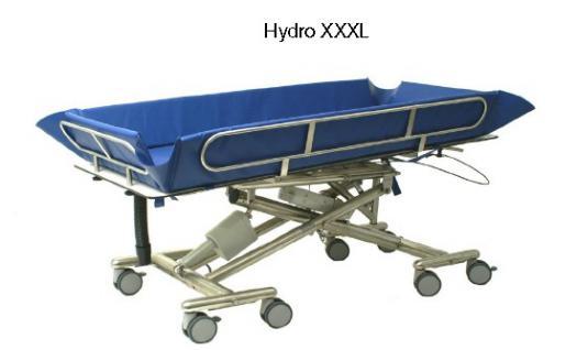 XXL Duschwagen 250 kg kippbar ERSCHÜTTERUNGSARM elektrisch höhenverstellbare Duschliege - Vorschau 1