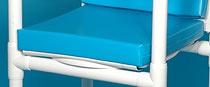 Aktion: REISE-Profi wasserdichter Sitzpolster mit massiver Sitzplatte für 150 kg faltbarer Duschstuhl höhenverstellbar mit Rollen