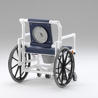 XL 175 kg Duschrollstuhl Toiletten-Rollstuhl Transportstuhl Profi-Duschstuhl - Vorschau 3