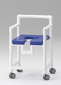 Badhocker mit Rollen 150 kg Kippschutz grosse Sitzfläche gepolstert - Vorschau 4