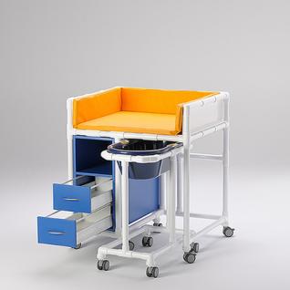 Klinik: WK7 - rollbare Wickelkommode Babywanne Klinik geeignet RCN