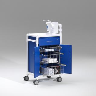 Stationswagen Pflegewagen Wäschesammler Hygienezubehör RCN - Vorschau 4