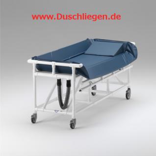 Wartungsfreier Duschwagen hoher Wasserstand Duschliege Transportliege