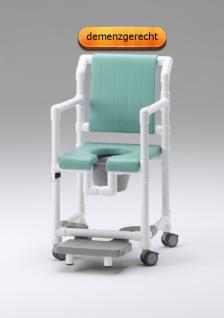 Schnelllieferung: Standsicherer Wohlfühlstuhl bei ALS oder MS Toilettenstuhl Profi-Duschstuhl demenzgerecht