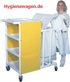Rostfreie Wäschewagen Wäschesammler Pflege Hotels Bäder - Vorschau 1